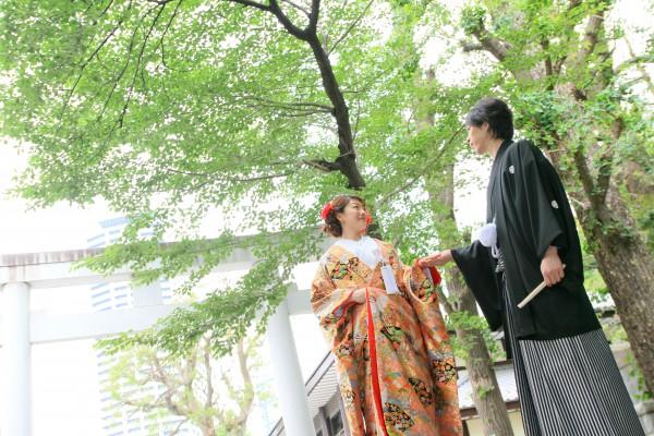 挙式アルバム付 色打ち・白無垢フォト神前式プラン(新婦衣装2着)