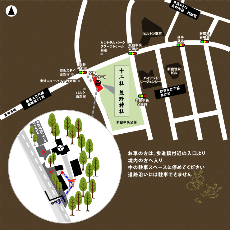 神社所在地 アクセス図