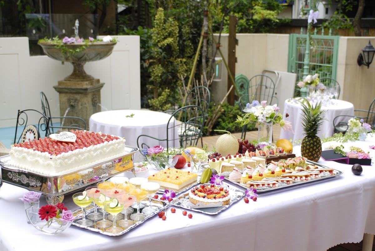 結婚式+ガーデンパーティー